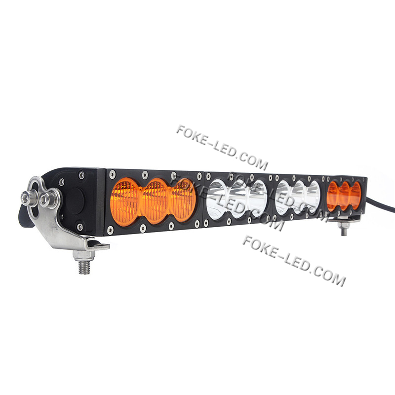 High Power 200w 20 Inch Jeep Accessories Led Light Bar For: 22 Inch 120W Jeep Wrangler White/Amber Color Led Light Bar